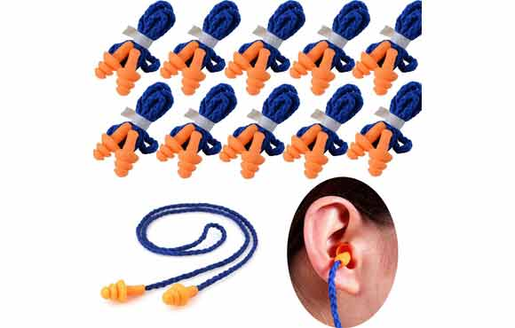 Use your hands to roll the earplugs