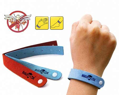 Wear the mosquito repellent bracelets