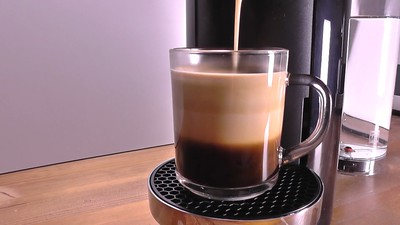 The steps to use the Nespresso coffee maker