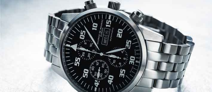 Men's Relic Silver Stainless Steel Multifunction Watch